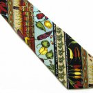 Red Hot Chili Pepper Necktie Mens Tie Silk Habanero Salsa Hand Sewn Nicole Miller 56.5