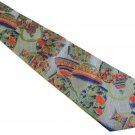 Oriental Theme Necktie Mens Silk Tie Thai Vase Pot Gray Green Blue Coral Designer Fashion 55