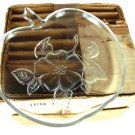 Hazel Atlas Apple Blossom Snack Plates Glass Dessert Sandwich Serving Dining Vintage 1950s Box Set 7