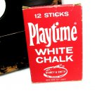 Binney Smith Playtime White Chalk 320 Red Retro Vintage Classroom Teacher Child Display Collectable