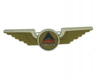 Delta Airlines Gold Wings Pin 1966 Vintage Memorabilia Flight Flying American Aeronautical History