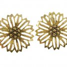 Large Gold Daisy Mae Earrings Vintage Clip On Sarah Coventry 50s Retro Mod Designer Jewelry