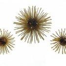 Modern Flower Brooch Pin Earrings Amber Rhinestone Golden Mum 60s Retro Mod Jewelry Coventry