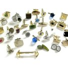 Men's Vintage Jewelry Lot Cufflinks 31 Pair Swank Krementz Gold Filled Jade Sterling Onyx