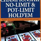 Championship No-limit Pot-limit Hole Em Poker Games Book How To Play Win Cloutier