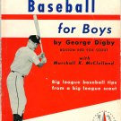 Baseball For Boys George Digby Boston Red Sox Scout Tip All Star Sport Book 1960