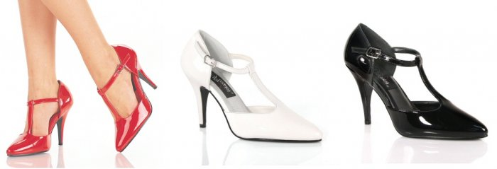 """Vanity"" - Women's T-Strap D'Orsay Pumps/Shoes"