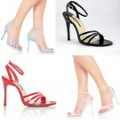 """Fresh"" - Women's Open Toe Strappy Ankle Wrap Sandal"