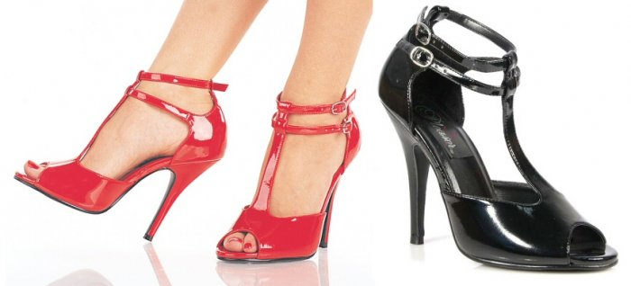 """Seduce"" - Women's Peep Toe Sandals/Shoes with Dual Ankle Straps"