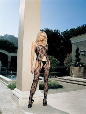 Rose Bouquet Suspender Lace Bodystocking