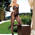 Flower Lace Bodystocking with Attached Sleeves
