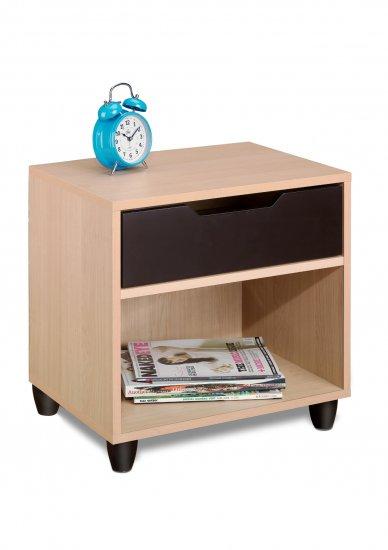 One (1) Drawer Night Stand - Kids or Adult - Storage Shelf - Book Case