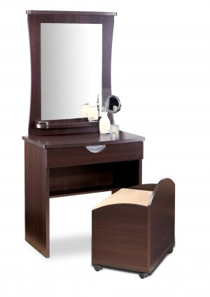 Bedroom or Bathroom Hair and Makeup Vanity with Large Mirror
