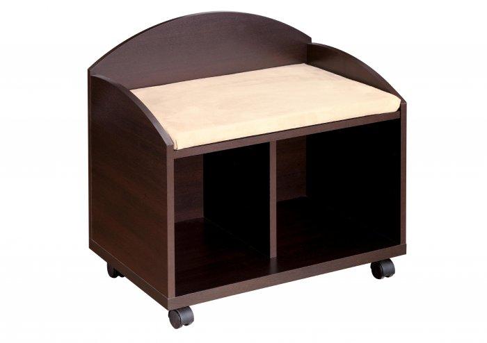 Bedroom Vanity Bench Storage Seat Mobile - on wheels