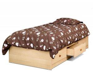 Three (3) Drawer Storage Kids Bedroom Twin Platform Mates Bed