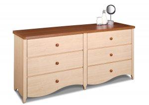Six (6) Drawer Bedroom Dresser Chest - Kids or Adult Wardrobe Clothes Storage