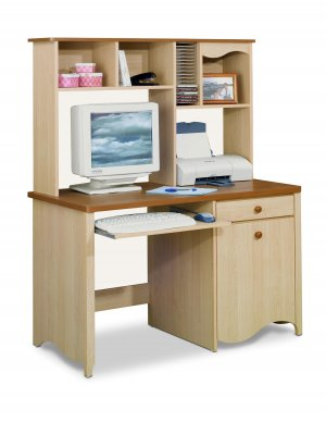 Student Bedroom or Office Computer Desk Writing Table w/Drawer and Storage