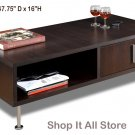 Espresso Living Room Console Coffee Table with Drawer and Storage Area