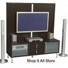Espresso Plasma / LCD / DLP TV Stand Base Storage Entertainment Center