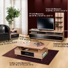 Plasma / LCD / DLP TV Stand Base Storage Entertainment Center + Coffee Table / End Table