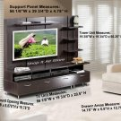 Plasma / LCD / DLP TV Stand Base Storage Espresso Entertainment Center w/Panel