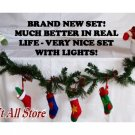Snowman Mantle Garland Christmas Decorations Decor