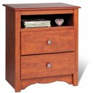 Cherry Bedroom Night Stand Storage Bookcase Books Nightstand
