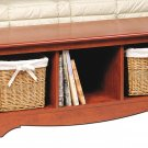 Cherry Queen Double/Full Hallway Bed Bench Storage Room Organizer