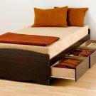 Espresso Twin Captains Platform Storage Bed 3 Drawer Dresser Kids Clothes