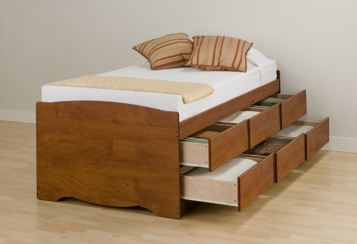 Tall Maximum Storage Bed
