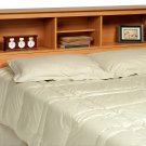 Maple Queen / Double / Full Size Bed Storage Bookcase Headboard