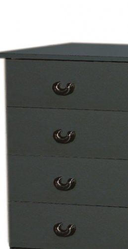 Black Bedroom Seven (7) Drawer Lingerie Chest Dresser Storage Clothes Organizer