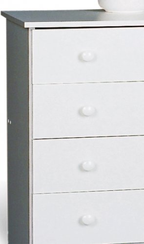 White Bedroom Seven (7) Drawer Lingerie Chest Dresser Storage Clothes Organizer