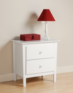 White Bedroom Night Stand Storage Bookcase Books Nightstand
