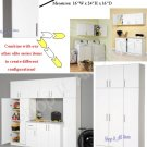 """White 16"""" Kitchen Bath Laundry Garage Cubbie Cabinet Modular Storage"""