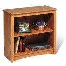 "Oak 29"" Bookcase Book Shelf CD DVD Blu-Ray Storage Organizer - 2 Shelf"