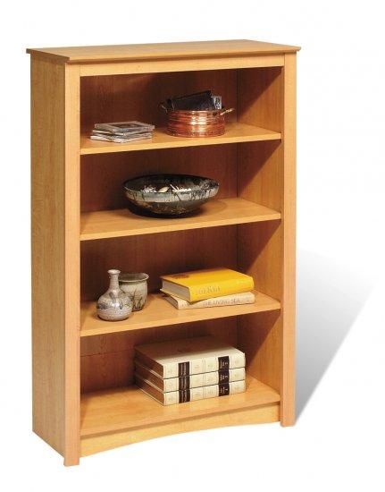 "Maple 48"" Bookcase Book Shelf CD DVD Blu-Ray Storage Organizer - 2 Shelf"