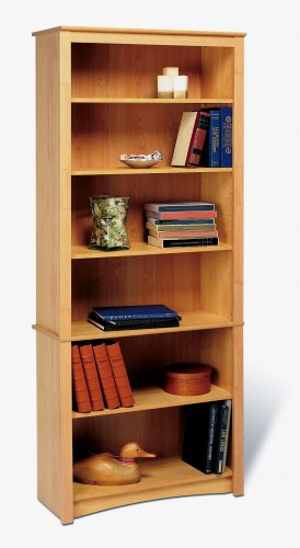 "Maple 77"" Bookcase Book Shelf CD DVD Blu-Ray Storage Organizer - 2 Shelf"