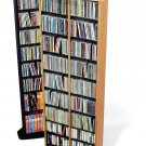 BLACK Corner CD / DVD / BLU-RAY Movie / Video Game Storage Tower Organizer