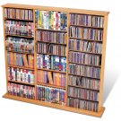MAPLE Triple Wall CD / DVD / BLU-RAY Movie / Video Game Storage Tower Organizer