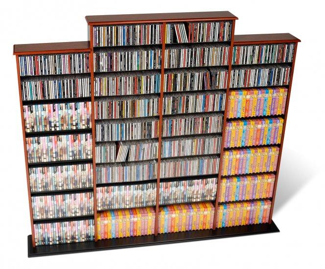 CHERRY Quad Wall CD / DVD / BLU-RAY Movie / Video Game Storage Tower Organizer