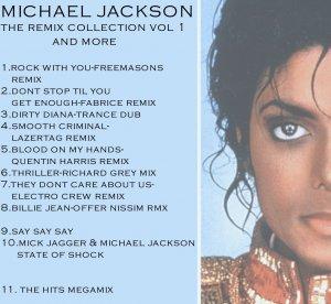 michael jackson remix collection vol 1 dj dance mixes rare