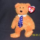 TY Beanie PAPPA Orange 2003 Father's Day Bear 8""
