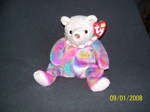 TY Birthday Bear 'October, Opal'