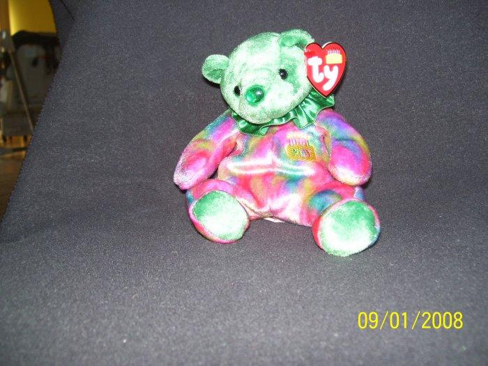 TY Birthday Bear 'May, Emerald'