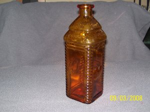 Amber Berrings Bitters Bottle