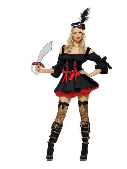 Leg Avenue Adult Halloween Costume Sexy Caribbean Pirate Wench XL