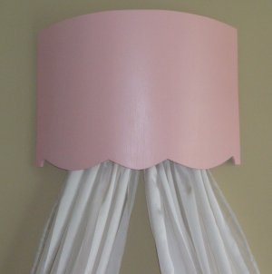 Curved Bed Crown / Cornice Pink