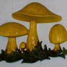 Homco Home Interior Mushroom Wall Plaque
