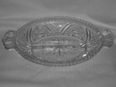 Crystal Glass Relish Dish